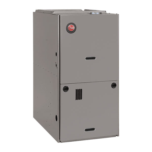Rheem R801P downflow gas furnace.