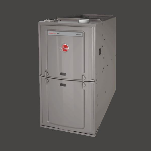 Rheem R801T Upflow/Horizontal gas furnace.