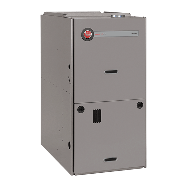 Rheem R802P downflow gas furnace.