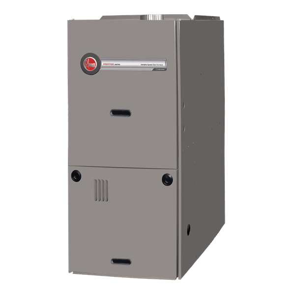 Rheem R802V downflow gas furnace.