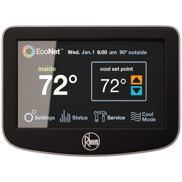 Rheem EcoNet™ Control Center thermostat.