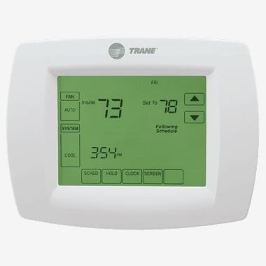Trane XL802 thermostat.